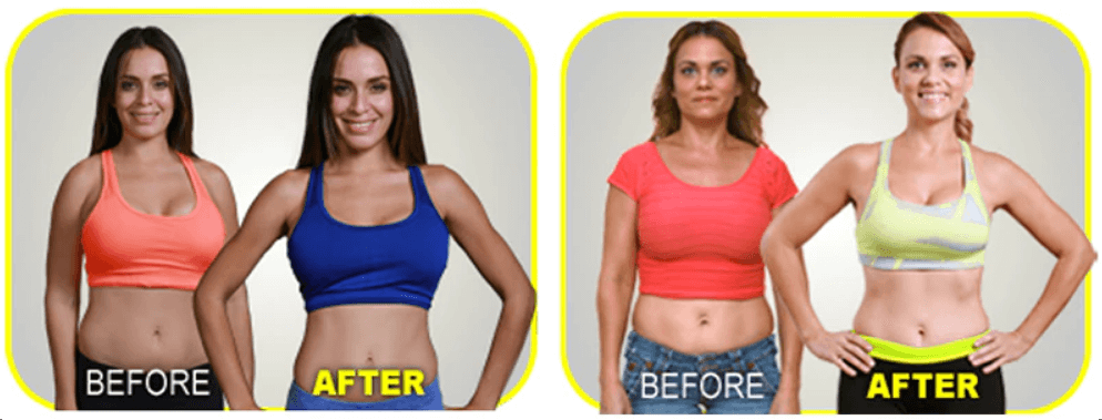 neoprene waist trainer before and after