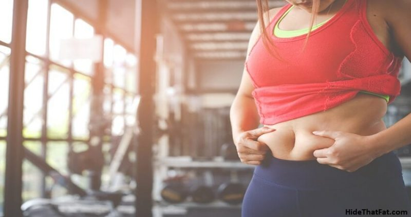 lower belly fat while being already underweight