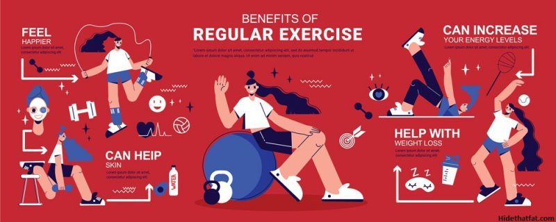Benefits of regular exercises to lose belly fat
